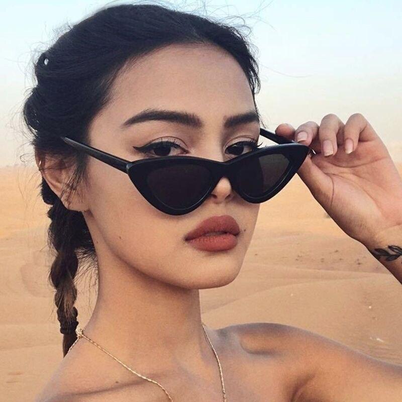 IGUETTA 2019 Small Cat Eye Sunglasses Women Retro Black White Cateye Sun Glasses Fashion Vintage Brand Designer Sunglasses