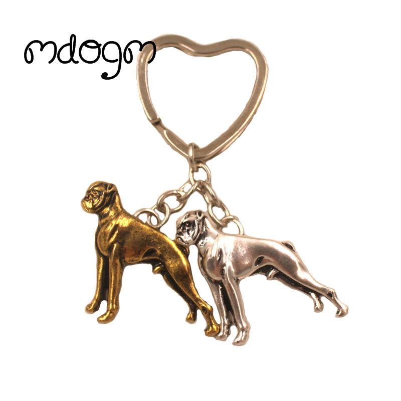 2019 New Cute Boxer Dog Animal Antique Retro Handbag Purse Pendant Keychain For Bag Car Women Men Key Ring Love Jewelry K081