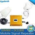 1 Conjunto LCD Reforço! LTE 4G 1800 MHz + GSM 900 Mhz Dual Band Repetidor de Sinal, 2G 4G Reforço de Sinal amplificador de Sinal Duplo Bar