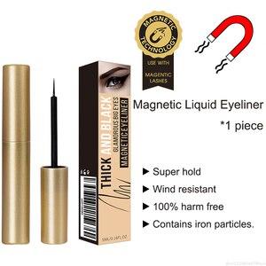 Image 1 - Waterproof Magnetic Eyeliner For Magnets Eyelashes Quick Drying Sweat proof Long lasting Big Eyes Makeup Liquid Eyeliner TSLM2