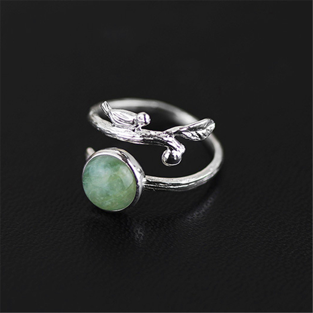 Lotus Fun Exclusive Special Handmade Ring Natural Beryl Stone Genuine 925 Sterling Silver Jewelry  New Accessories
