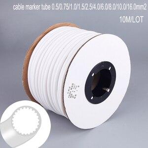 1 rouleau PVC 1.5mm2 3mm ID | Écriture blanche, référence de la Machine d'impression, Tube de prune, manchon de fil, marqueur de câble vierge