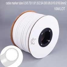 1roll 1.5mm2 PVC 3mm ID White Handwriting Ferrule Printing Machine Number Plum Tube Wire Sleeve Blank Cable Marker(China)