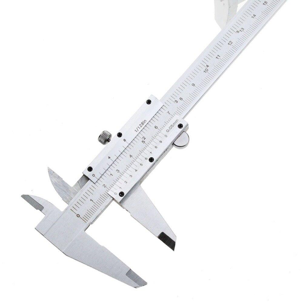 """Pied à coulisse 6 """"0-150mm/0.05mm 0.008 pouces étriers en métal jauge micromètre Pie De Rey Paquimetro outils De mesure"""