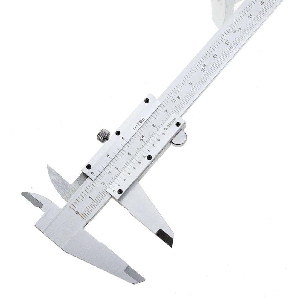 цена на Vernier Caliper 6 0-150mm/0.05mm 0.008inch Metal Calipers Gauge Micrometer Pie De Rey Paquimetro Measuring Tools