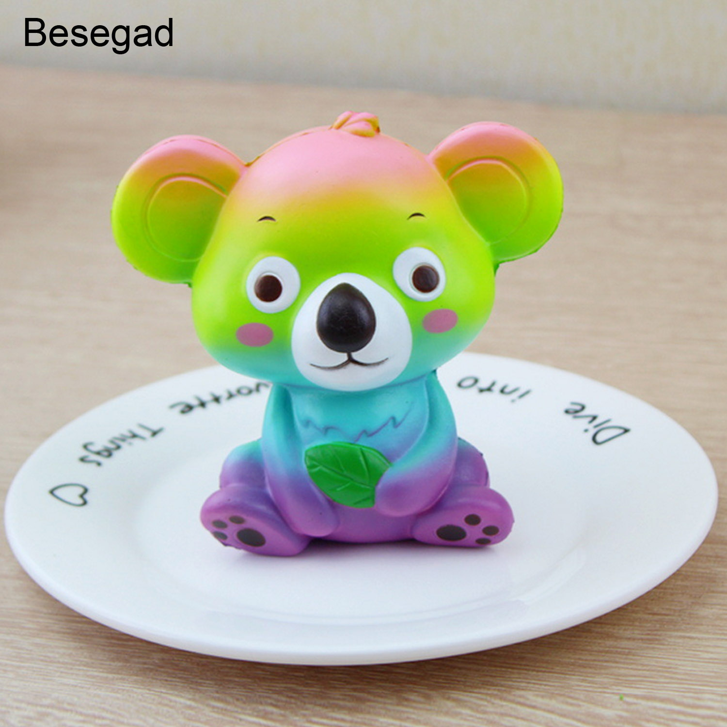 Besegad Soft Jumbo Cute Kawaii Koala Coati Squishy Squshi Slow Rising Squeeze Toy for Children Adults Relieves Stress Anxiety