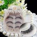 O envio gratuito de 3 pçs/lote 100% handmade real mink cílios falsos 3D tira vison cílios grossos falso falso cílios Maquiagem beleza