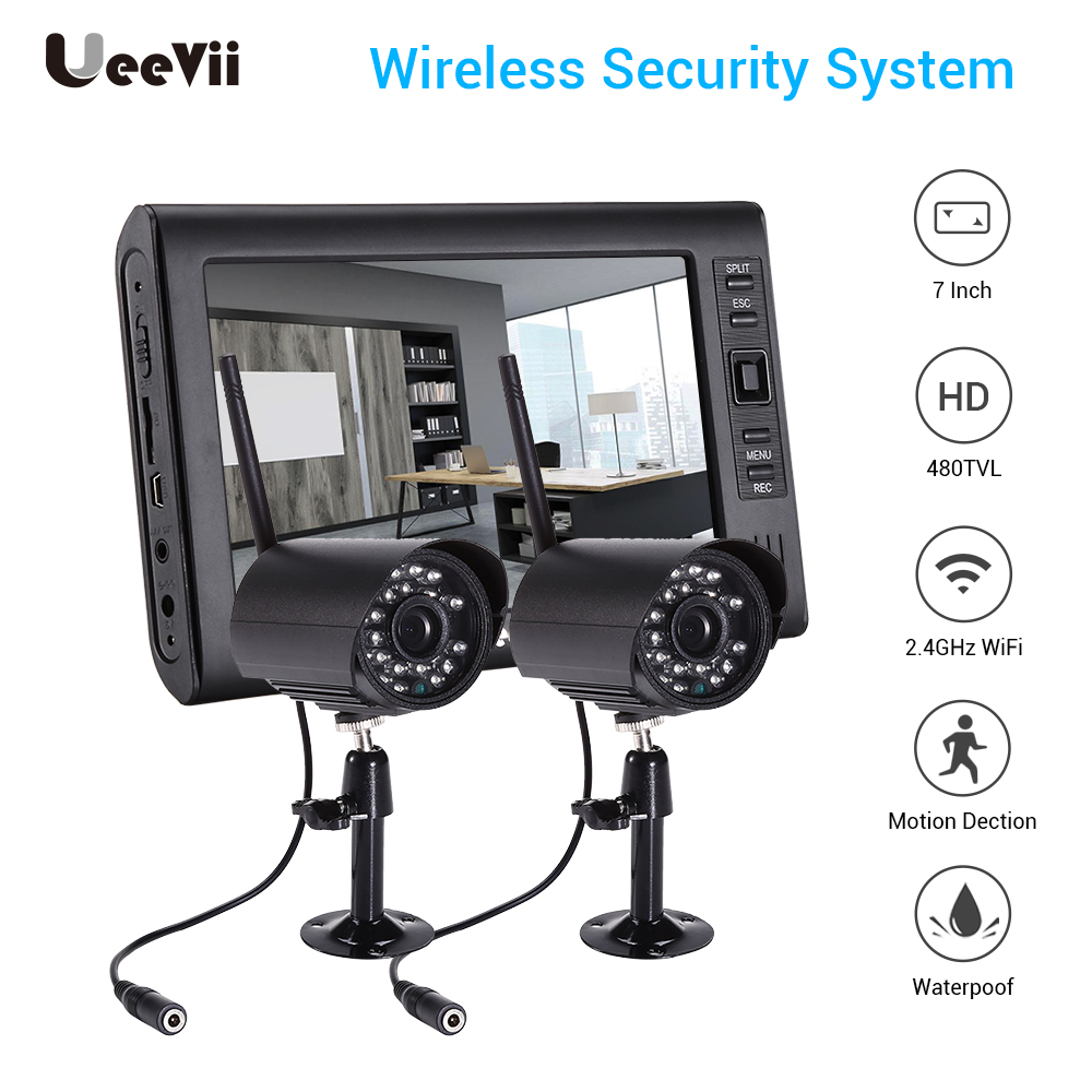 WIFI 480P LCD Monitor POE NVR Kit CCTV System IR night vision Outdoor Home Security IP Camera P2P Video Surveillance System Set image