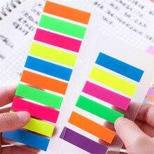 Прозрачная флуоресцентная цветная бумага, блокнот для заметок, липкая закладка для заметок, точечный маркер, стикеры для заметок, офисные школьные принадлежности, блокноты