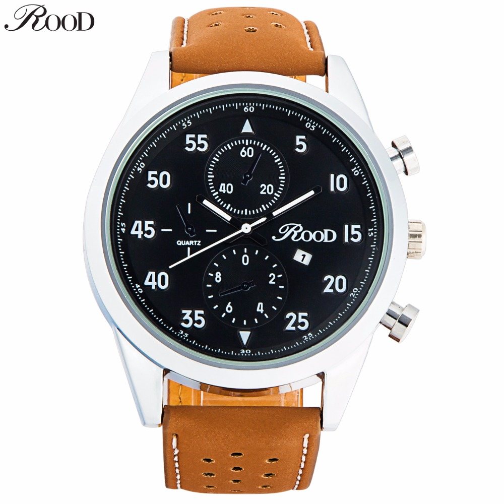 Hot Fashion Men Sports Watches Men's Quartz Hour Date Clock Man Leather Strap Military Army Waterproof Wrist Watch Male CLOCK