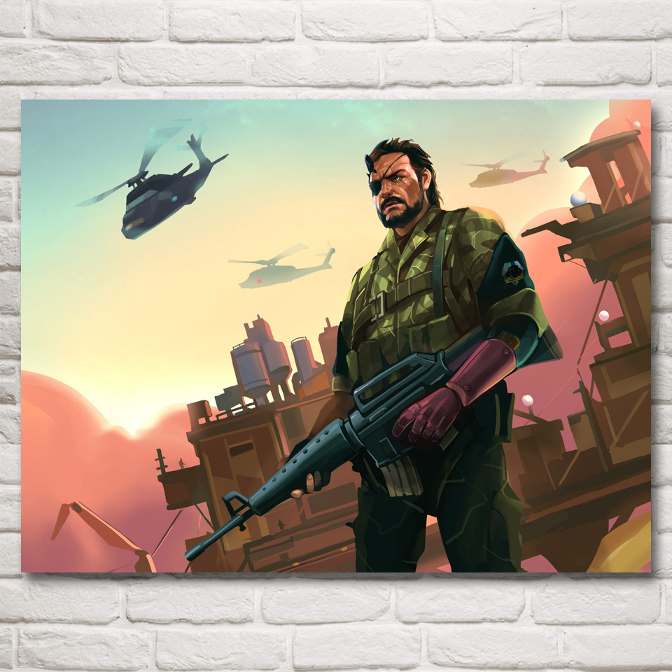 FOOCAME Metal Gear Solid Game Art Silk Fabric Poster Prints Pictures ...