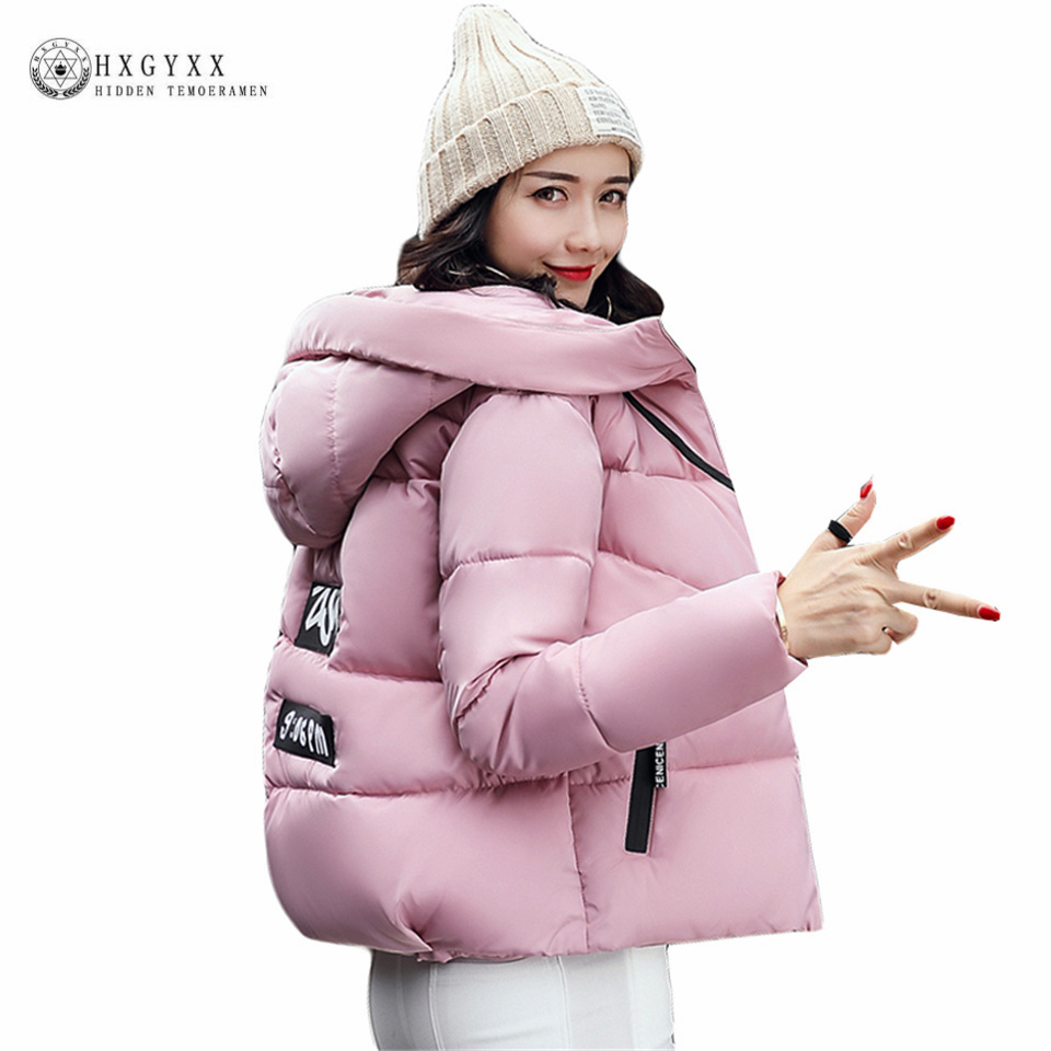 2017 new arrival korean winter jackets long sleeve loose casual short parkas for women hooded zipper student padded coats ok405 halloween half face skull skeleton mask cap neck ghost scarf outdoor motorcycle bicycle headwear hat scarf