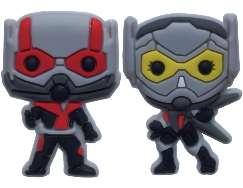 Single Sale 10pc Ant-Man and the Wasp PVC shoe charms shoe accessories shoe decoration for croc jibz Kid's Party X-mas Gift