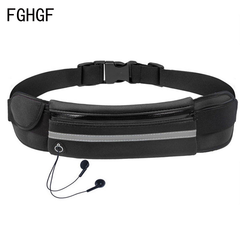 Waterproof Outdoor Waist Bag Sports Jogging Portable Cycling Outdoor Phone Holder Belt Bag Gym Lady Women Men Fitness