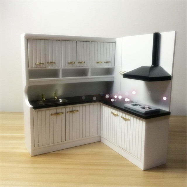 Doub K 1:12 white Miniature range hoods kitchen sets Dollhouse Furniture  toy dolls house