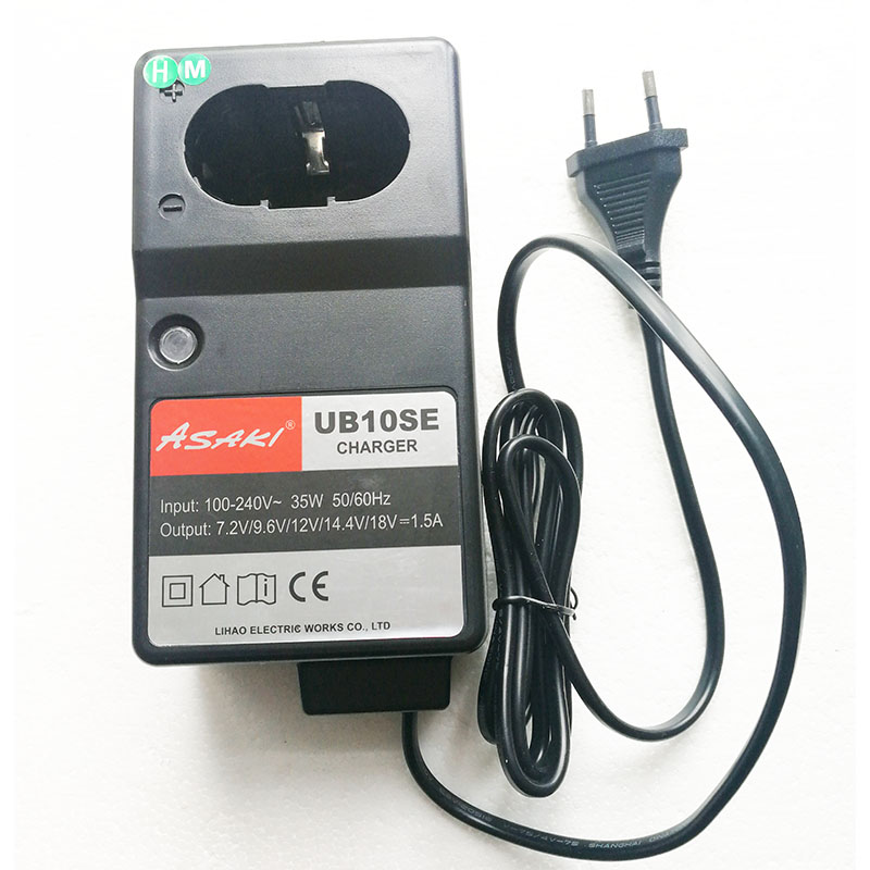 UB10SE Electrical Drill Ni-MH / CD Battery Charger For Hitachi UC18YG Makita DC1414 7.2V 9.6V 12V 14.4V 18V Battery Asaki