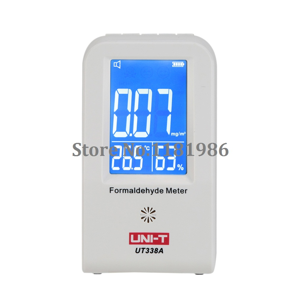 UNI-T UT338A Indoor Formaldehyde Detector LCD Display High Precision Formaldehyde Data Logger Air Monitor Hygrometer ThermometerUNI-T UT338A Indoor Formaldehyde Detector LCD Display High Precision Formaldehyde Data Logger Air Monitor Hygrometer Thermometer