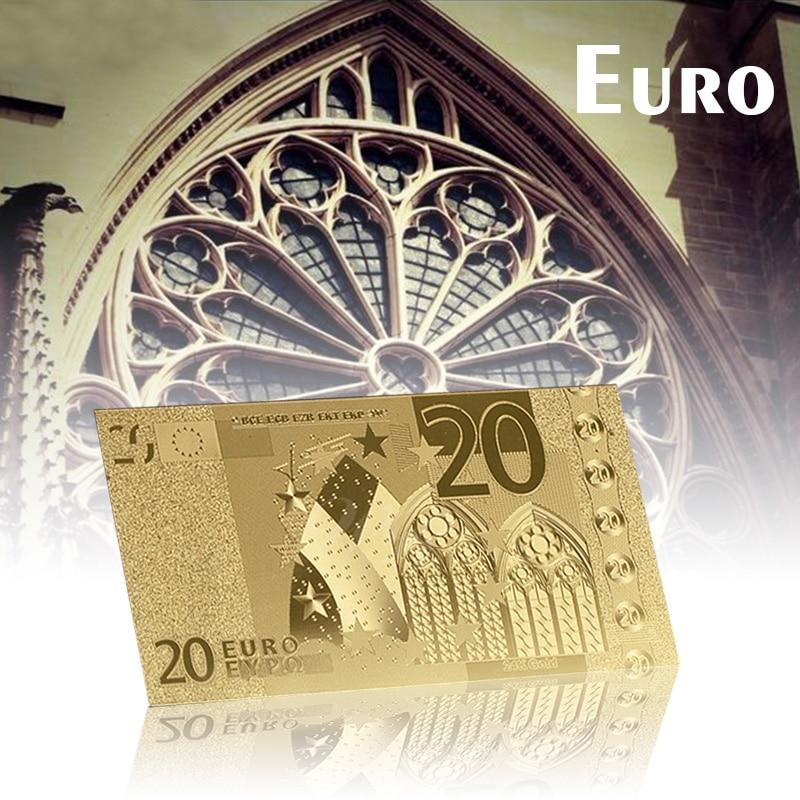 WR Цвят Златен Euro банкноти 24K Злато - Декор за дома
