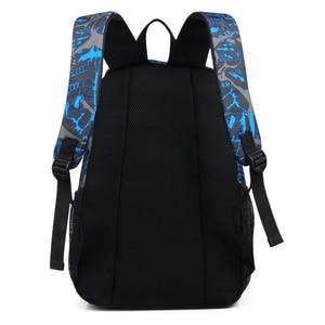 Image 4 - 2020 New Graffiti School Backpacks Men Fashion Students School Bags For Teenage Girls Boys Luminous Men Backpacks Travel Mochila