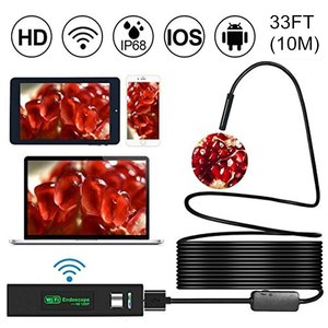 Image 1 - Wireless WiFi Endoscope HD 1200P Mini Waterproof Soft Cable Inspection Camera 8mm 8LED Borescope for IOS Android PC Soft Line