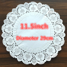PD025 Free shipping 11.5 Vintage napkin Hollowed Lace Paper mat Crafts DIY Scrapbooking/Card Making/Wedding Decoration