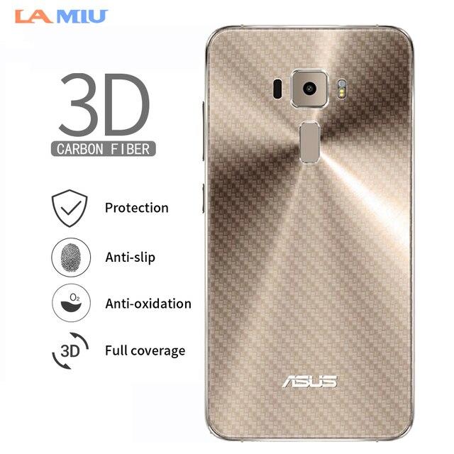 3D Carbon Fiber Screen Protector Back Film For Asus Zenfone Max Pro (M1)  ZB601KL Zenfone 5z ZS620KL ZE620KL ZC554KL ZE520KL 9e91651dbeea