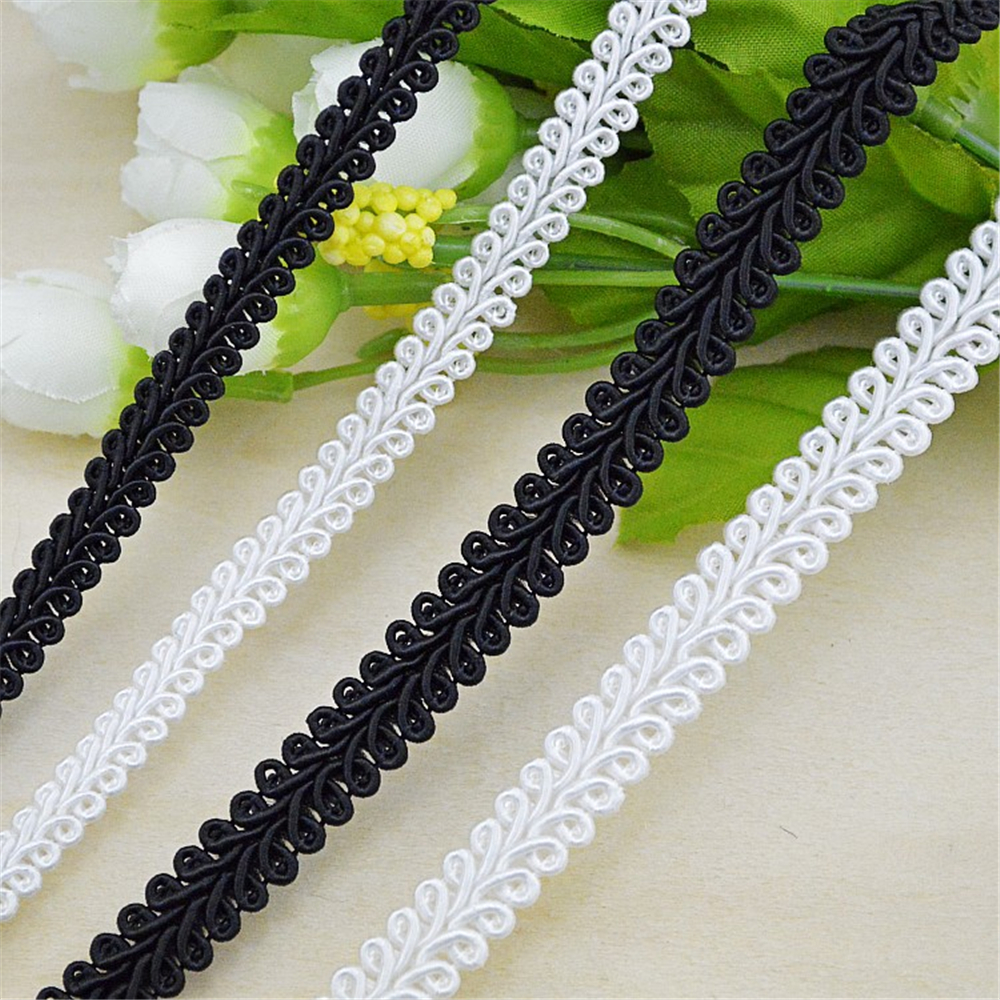 25meters Gold Silver Black Bullion Ribbon Diy Accessory Wavy Webbing Garments Hair Decorations Lace Stiching Tape Trimming