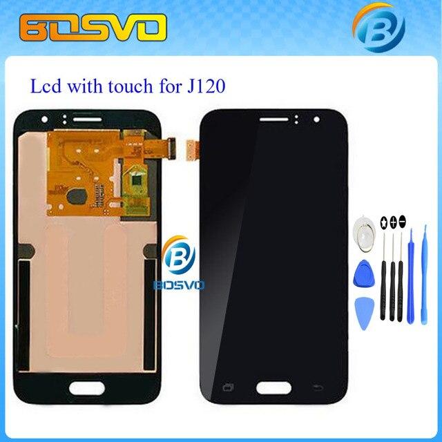 100% тестирование жк-дисплей с сенсорным экраном дигитайзер Для Samsung для galaxy J1 J120 J120F J120M J120H J120DS бесплатная доставка + инструмент