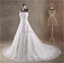 Новые настоящие Свадебные платья белого/цвета слоновой кости