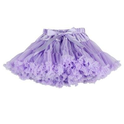 ; пышные шифоновые юбки-американки для малышей; 21 цвет; юбки-пачки для девочек; фатиновая юбка принцессы для танцевальной вечеринки; Нижняя юбка; - Цвет: light purple
