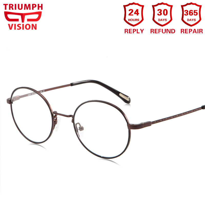 TRIUMPH VISION Vintage Prescription Glasses Round