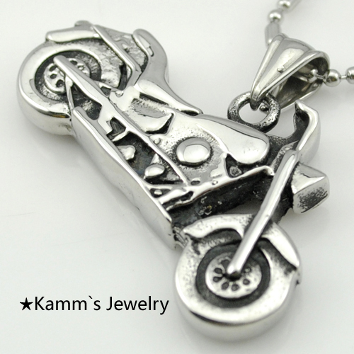 Motorcycle scooter autobike autocycle 316L Stainless Steel Casting Pendant Necklace 1 Pic Biker Free Shipping Fashion Hot KP113