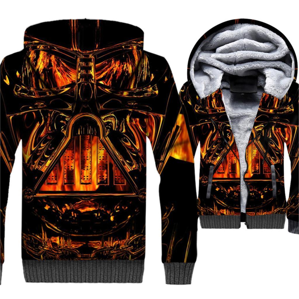 Star Wars Jackets 3D Hoodies Men Harajuku Sweatshirts Winter Thick Fleece Warm Coat StarWars Hipster Sportswear Brand Clothing