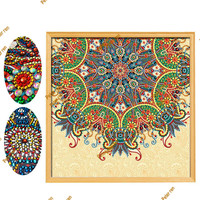 Special Shaped Diamond Painting DIY Flower Full Diamond Point Tile Stone Embroidery Cross Stitch Mosaic embroidery crafts arts