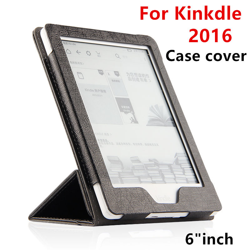 Case For Kindle PU Protective New 2016 eBook Reader Smart Cover Protector leather For Amazon Kindle Sleeve cases 6'' Covers