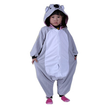 DOUBCHOW Kids Girls Boys Gray Koala Onesies Costumes Cartoon Cute Pajamas Halloween Christmas Party Children Cosplay Lounge Wear