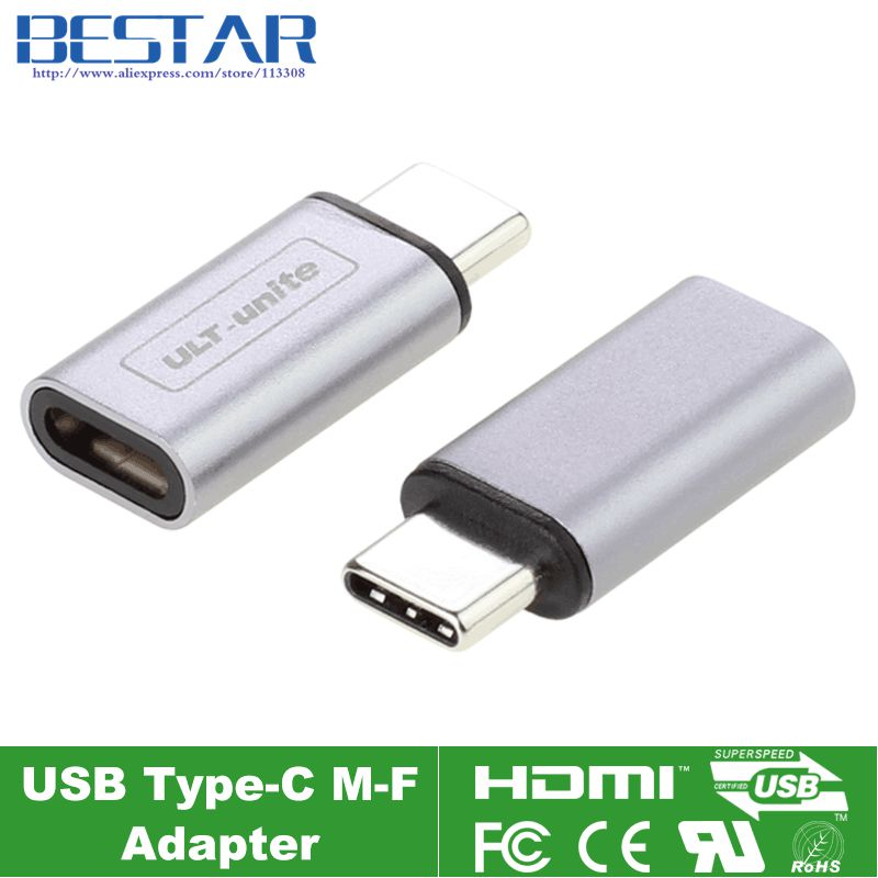 2017 NEW type Silver & Gray 10Gbps standard Metal USB-C USB 3.1 Type C male to female Adapter Connector converter USB3.1 type-c usb3 0 round type panel mounting usb connecter silver surface