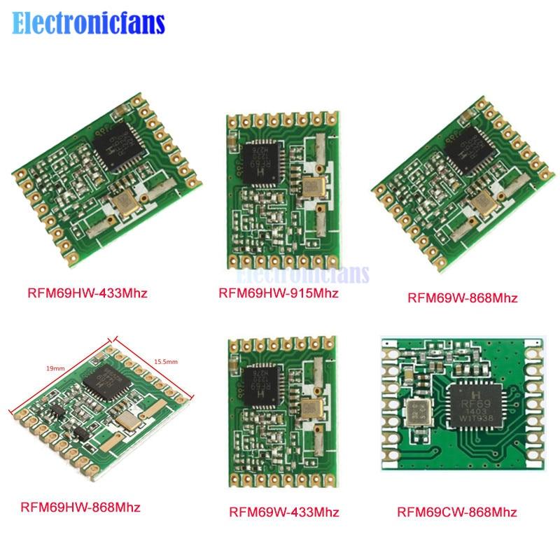 RFM69W RFM69CW RFM69HW 433Mhz 868Mhz 915Mhz RF Wireless Transceiver Temperature Sensor Module HopeRF FSK Low Power Module