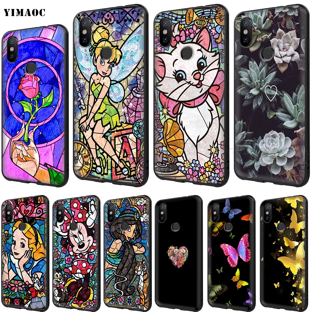 YIMAOC Stained Glass Alice <font><b>Mickey</b></font> Stitch Soft Case for <font><b>Xiaomi</b></font> Redmi <font><b>mi</b></font> Note 6 6A 8 mi8 <font><b>a1</b></font> a2 Pro Lite for pocophone f1 image