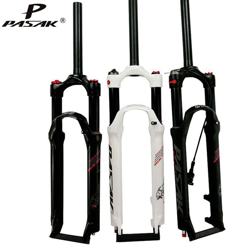 PASAK Mountain bicycle Fork 26 <font><b>27.5</b></font> 29 inch <font><b>MTB</b></font> Bikes <font><b>Suspension</b></font> Fork Air Damp Boost Fork Remote and Manual Control HL RL image
