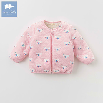 DB4273-H dave bella autumn infant baby girl fashion printed coats children cute hight quality clothes image