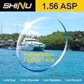 SHINU Marca 1.56 lentes de prescrição asférica HC TCM extra fino lentes de resina óculos de grau UV para miopia ou óculos de leitura SH1001