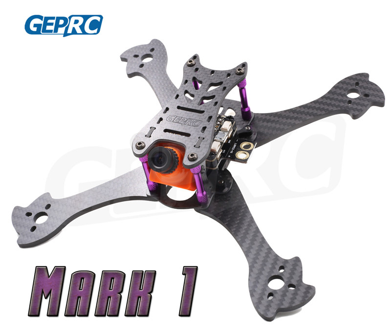 GEPRC DIY FPV mini drone Mark1  5 210mm Freestyle quadcopter 3K pure carbon fiber frame for the racing drone with camera rc plane qav 250 carbon frame f3 flight controller emax rs2205 2300kv motor fiber mini quadcopter