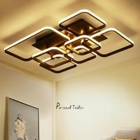 Rectangle New Black Aluminum Modern Led Living Room Bedroom Home Decoration Ceiling Lights Luminarias Para Sala