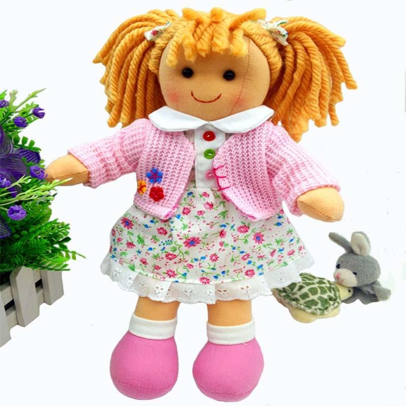 Smafes högkvalitativa 12-tums mjuka ragdockor leksaker för flickor plysch, född docka med trasa barn födelsedagsrosa docka gåva