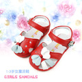 2016 nuevo verano 1 - 2 - 3 year mujer niño sandalias antideslizantes bebé del cuero genuino de la muchacha de la princesa chaussure fille
