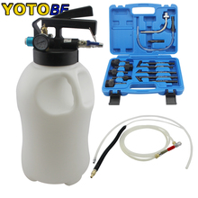 Two Way 10L Penumatic Air Engine Transmission Gear ATF Oil Extractor & Refilling Dispenser With Adapters Tool Kit Auto Fill