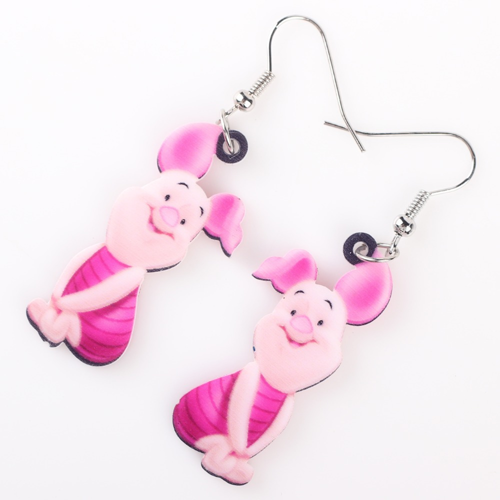 Newei Long Drop Brand Lovely Pig Earrings Acrylic New Jewelry S Women Cartoon Children Piglet Accessories In From