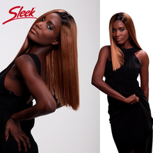 Sleek Straight Lace Front Human Hair Wigs For Black Women Br