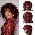 Женщины красные волосы Короткие Вьющиеся синтетический Парик короткие курчавые вьющиеся афро парики натуральные волосы короткие парики для чернокожих женщин парики, которые выглядят настоящее